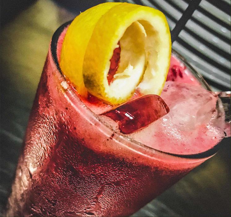 Blackberry Sour Cocktail